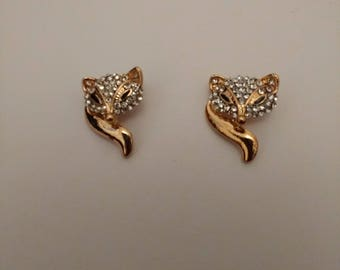 Little Fox Pins...Pair of collar Pins