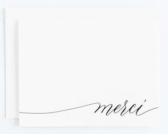 Merci - Letterpress Calligraphy Greeting Card