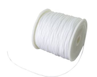 Coil 0.5mm/0.8mm/1mm - white - braided Nylon thread