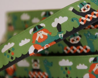woven ribbon viking green