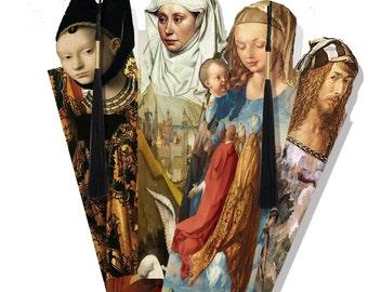 printable Bookmarks Renaissance painters famous Artists DIy collage sheet last minute gift idea