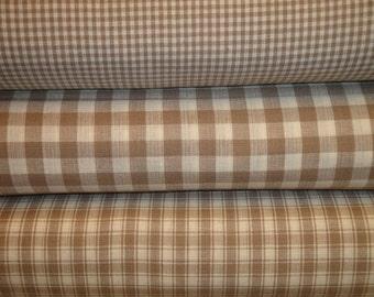 Homespun Fat Quarters | Fat Quarter Bundle of 3 | Taupe Homespun Fabric Fat Quarter Bundle