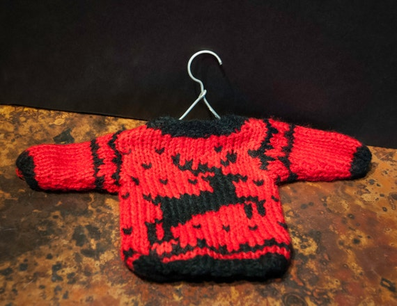 Red Sweater on a Hanger Holiday Tree Ornament