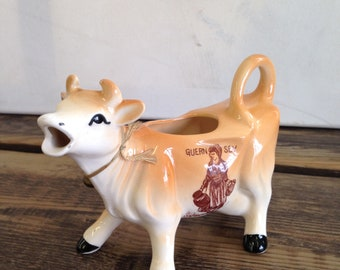 Vintage Light Brown Guernsey Cow Shaped Milk Jug - 1950's - in Good Condition