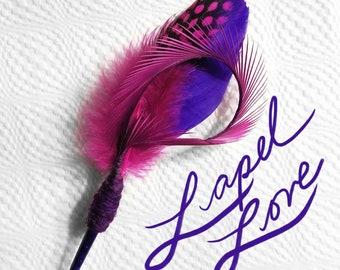 Purple and Fuscia Lapel Pin