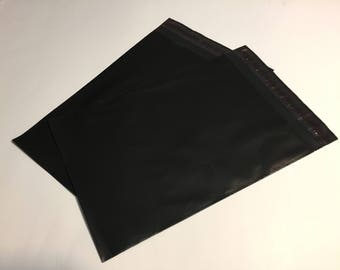 100  6x9 BLACK Poly Mailers  Self Sealing Envelopes Shipping Bags Halloween