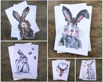 Artist Card Pack, Artist Trading Card, Greeting Card, Animal Print, A5 Card, Blank Card, Art Card, Birthday Card, Deer, Animal Art