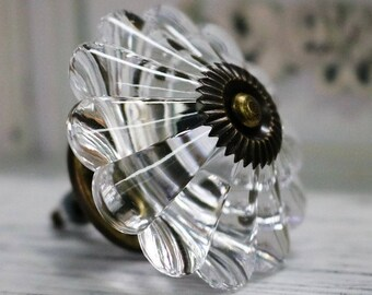 Glass Knobs / Clear Crystal Knob / Drawer Knobs / Dresser Pulls Handles / Cabinet Knob Sparkly Furniture Decorative Knobs Hardware 554