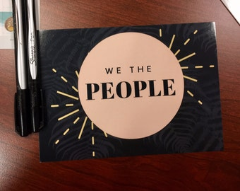 We the People - Resistance Postcard