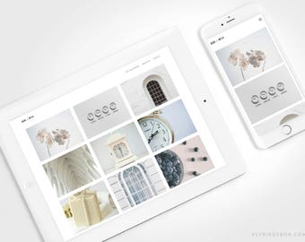 Minimal Blogger Template ⊡ Box No24 ⊳ Pre-made Responsive Blogger Theme with a Grid Layout
