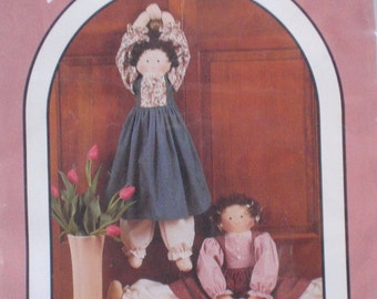 Craft Pattern - Warm At Heart Draft Stopper or Door Knob Doll - Dream Spinners #134 - Uncut