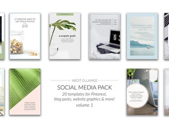 Social Media Templates for Pinterest Images, Pinterest Templates, Social Media Graphics, Templates for Pinterest, Pinterest Graphics