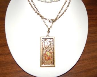 Antique Blossoms - Mixed Media Necklace