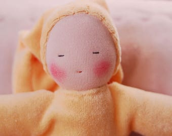 First Waldorf doll- cuddle doll- birthgift - Color Peach