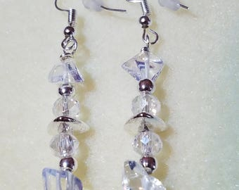 Opal and Austrian Crystals with Silver accents