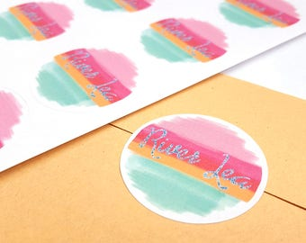 Circle Logo Stickers - Circular Business Stickers - Round Logo Labels - Round Packaging Stickers - Custom Logo Stickers - Store Labels