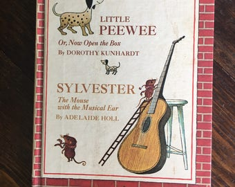 Little Peewee & Sylvester Two Books in one weekly reader / vintage childrens book hardcover