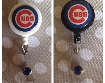 Chicago Cubs Baseball ID Badge Name Tag Holder Retractable Reel Perfect For Nurse, RN, CNA, Teacher, Billard Player, Sports