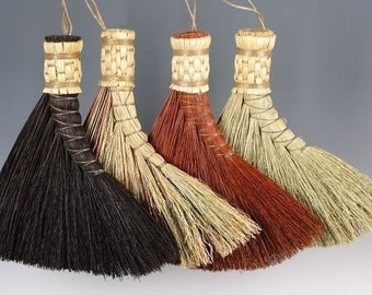 Turkey Wing Broom in your choice of Natural, Black, Rust or Mixed Broomcorn - Traditional Shaker Style Brush - Sweeper