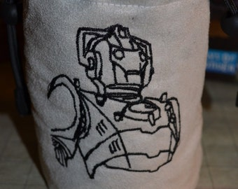 Dice Bag custom Embroidery Dr. Who cyberman