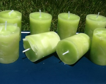 6 Bartlett Pear votive candle hand poured scented
