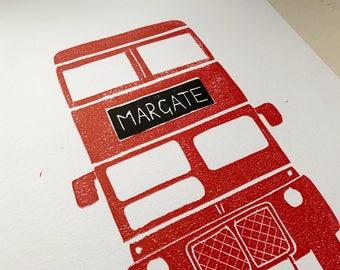 DfL (Margate)  - Original Linoprint (LIMITED PRINT RUN)