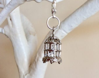 Bird cage progress keeper, stitch marker or zip pull kniiting and crochet accessory