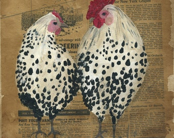 Silver Spangled Pair Art Print