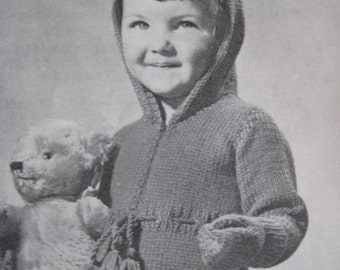 Vintage Knitting PDF Pattern Infant and Toddler One Piece Outfit Plus Mittens 50B-24