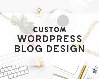 Custom Blog Design - Custom Wordpress Theme - Custom Wordpress Design - Custom Wordpress Blog Design