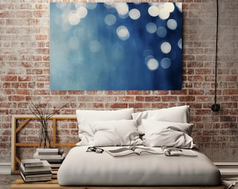 abstract giclee art print on canvas //  huge indigo abstract art canvas  // soothing art canvas - Indigo Dream, 60x40 photograph on canvas