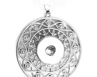 "Beautiful necklace, deco support watermark ""mandala"" to snap link chain"