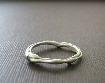 SALE - Organic Sculptural Thin Sterling Ring
