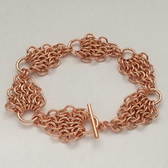 Mermaid Links - 100% copper chainmaille bracelet