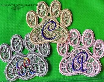 Custom Pet Lace Memorial Paws