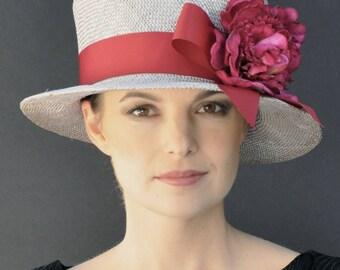 Derby Hat, Wedding Hat, Summer Straw Hat, Cloche, Garden Party Hat, Tea Party Hat, Formal hat, Dressy Hat, Ladies hats