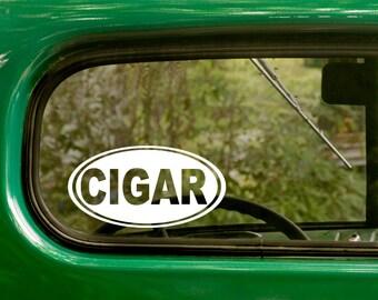 Oval Cigar Decal, Car Decal, Cigar Sticker, Laptop Sticker, Oval Sticker, Bumper, Vinyl Decal, Car Sticker
