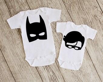 Batman & Robin Baby Bodysuits or Youth T Shirts