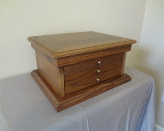 Handcrafted Solid Walnut Jewelry Box