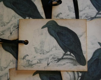 Black Crow Raven Tags