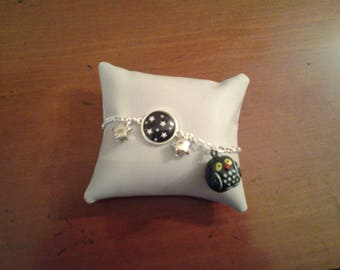 Bracelet child OWL Bell and stars