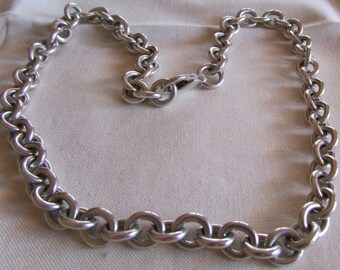 """Heavy Sterling Silver Link Chain 16"""""""