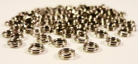 Antique Silver Split Rings 5mm Dark Silver Iron Metal Small Double Jump Ring Jumpring Jewelry Making Jewelry Findings Craft Supplies 100pcs