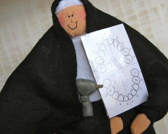 """Nun doll religious Catholic humor keepsake gift dentist """"Sister Phyllis Driller"""""""