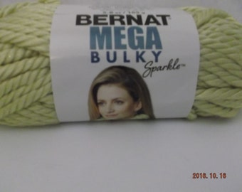Bernat Mega Bulky ~ Yarn Colour # 05223 SweetPea Sparkle ~ 165 Grams/5.8 oz ~Jumbo ~