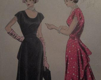 Vintage 1940's 6460 Dress Sewing Pattern Size 12 Bust 30
