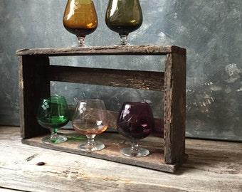 Vintage Jewel Tone Cordial Shot Glasses: Set of Five Footed Liqueur Glasses, Aperitif Stemware, Etched Cordial Glasses