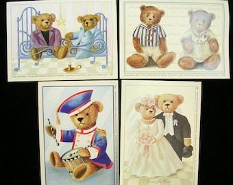 SET of 4 cards make 9 * 13CM: bears (No.2)