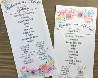 Dinner Menu, 10x4 Menu, Reception Menu Cards - for weddings, bridal events, and dinner parties