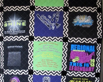 T-shirt Quilt:  Twin Size Custom Made 100.00 Dollar Down Payment